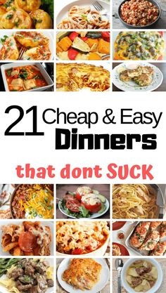 The Cheapest Meal Ideas 🤑. The Cheapest Meal Ideas 🤑. Over 20 of the cheapest meal ideas that families will love. These family friendly recipes not only taste great but are budget friendly. Cheap Easy Meals, Inexpensive Meals, Frugal Meals, Cheap College Meals, Healthy Cheap Meals, Cheap Family Dinners, Cheap Meals For Two, Easy Cheap Dinner Recipes, Budget Dinners