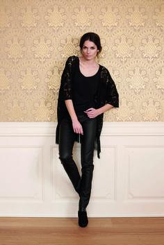 soyaconcept - blouse - cardigan - laces - pants - leather - party