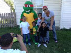Outside fun with Warrior Turtle and friends