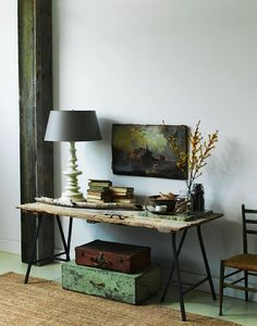 Lovely color balance, antiques and modern, rustic and elegant