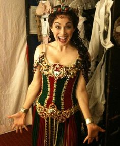 Elizabeth Welch prepares for her first turn as Christine in Broadway's 'The Phantom of the Opera.' Photo by Andrew Nelson, courtesy of Michael S. Borowski, The Publicity Office.