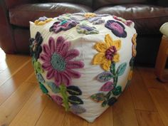Crocheted Flowers Bean Bag Cube £75.00
