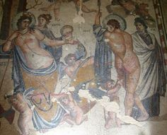 Aphrodite and Ares -  wall painting found Syria, at the Shaba Museum