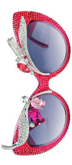 Navarro Pink swanky crystal encrusted  sunglasses