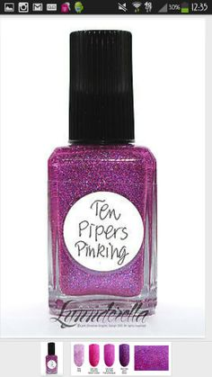 Lynnderella - Ten Pipers Pinking Tried