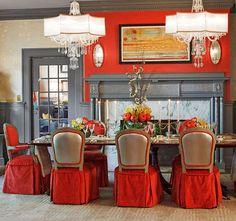 Rothesay, the 2010 Richmond Symphony Designer House dining room by designer Jennifer Stoner.  Via TraditionalHome.com