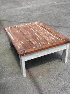 Coffee table made from a customer's old door!  Recycled Timber Furniture  www.recycledbyluke.com.au