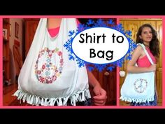 Shirt to Bag DIY | No sew - YouTube