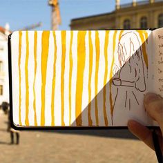 Eine meiner Lieblingsseiten aus meinem Art Journal fotografiert an einem der schönsten Plätze in Potsdam. Für mehr folge RiekesBlog! =)
