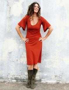 Gaia Conceptions - Bell Sleeve Below Knee Dress, $140.00 (http://www.gaiaconceptions.com/bell-sleeve-below-knee-dress/)