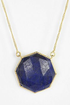 Geo Lapis Gold Necklace #urbanoutfitters