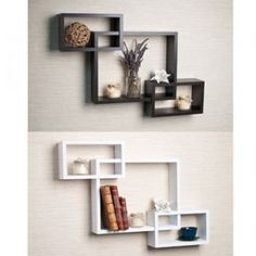 Wall hanging in square shapes in different sizes and placed together in artistic composition.