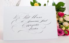 At Curran Calligraphy we offer a professional calligraphy service for that special occasion such as a wedding or corporate event. At Curran Calligraphy we understand the importance you place on your wedding stationery Calligraphy Text, Calligraphy Envelope, Envelope Art, Wedding Calligraphy, Wedding Stationery, Fancy Writing, Formal Wedding, Wedding Ideas, Addressing Envelopes