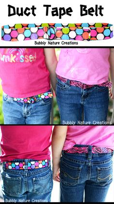 Duct tape belt, duct tape clothes, diy clothes, fun crafts, crafts for kids Duct Tape Projects, Duck Tape Crafts, Diy Projects, School Projects, School Ideas, Sewing Projects, Do It Yourself Jewelry, Do It Yourself Fashion, Cute Crafts