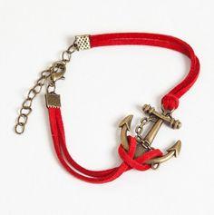#Nautical #Anchor #Bracelet quiero una así!!!