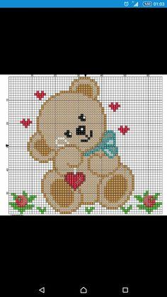 Cross Stitch Flowers, Cross Stitch Patterns, Crochet Patterns, Hama Beads Disney, Beren, Construction Paper, C2c, Cross Stitching, Applique