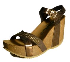 Italian sandals with high wedge and strass leather by Bionatura spring 2014