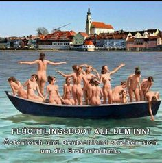 Tory councillor sorry over photo of boat full of 14 naked women with caption: 'If Carlsberg did illegal immigrants' Holland, Adult Humor, Erotic Art, Haha, Places To Visit, Funny Pictures, Photo And Video, Instagram, Skinny Motivation