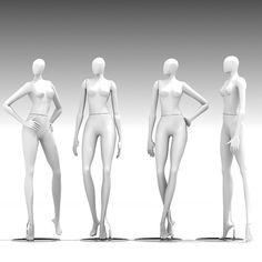 mannequin dummy woman 3d model - 3D Mannequin 401 by Giimann