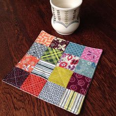Looking for a sweet little something for Mother's Day? @mugrugshop has just the thing with hand made fabric coasters!