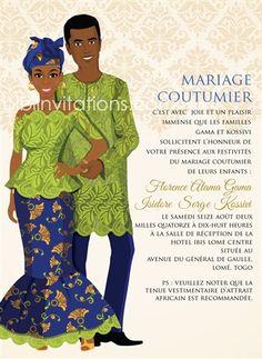 traditional wedding invitations that is elegant. Diy Invitations Mariage, Laser Cut Wedding Invitations, Wedding Invitation Cards, Igbo Wedding, Ghana Wedding, Ghana Traditional Wedding, Traditional Decor, Igbo Bride, Ethiopian Wedding
