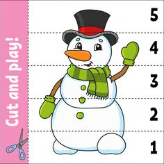 10 Free Printable Snowman Games and Activities for Kids to help your child enjoy the winter. These games are great for preschool and kindergarten. Preschool Cutting Practice, Cutting Activities, Free Preschool, Preschool Worksheets, Preschool Activities, Word Games For Kids, Puzzles For Kids, Snowman Games, Snowman Coloring Pages
