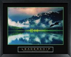 Leadership Bald Eagle Framed Inspirational Art Print