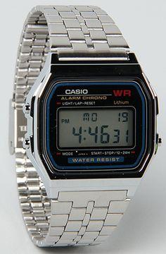 The Medium Digital Watch in Silver