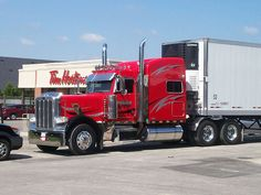 Nice, but a bit too big for the drive-thru Peterbilt 389, Peterbilt Trucks, Big Rig Trucks, Semi Trucks, Buses, Rigs, Trailers, Wheels, Memories