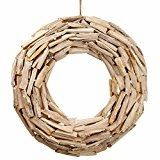 SilksAreForever Driftwood Hanging Wreath -Natural/Whitewashed (pack of - Driftwood 4 Us Driftwood Wreath, Driftwood Projects, Stair Stickers, Bed Wall, Monogram Letters, Wreaths For Front Door, Diy Painting, Wicker Baskets, Christmas Wreaths