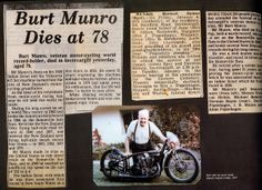 Confessions of an Ageing Motorcyclist: Burt Munro - Kiwi Legend Burt Munro, Vintage Motorcycles, Indian Motorcycles, Motorcycle Events, Trike Motorcycle, Drag Racing, Confessions, Pilot, Give It To Me