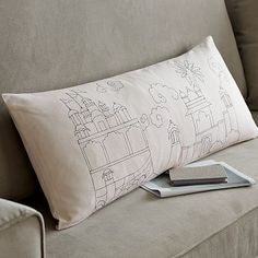 West Elm Landscape Pillow Cover