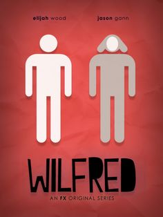"Pretty proud of my best friend. His minimal poster for ""Wilfred"" on FX made it on the minimal movie poster blog, and has been reposted 477+ times."