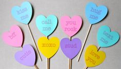 Valentine's Day Photo Booth Props. Valentine's Photo Booth Props. Conversation Hearts Photo Booth Props. Conversation Hearts. Set of 10.