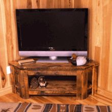 Rustic Corner TV Stand