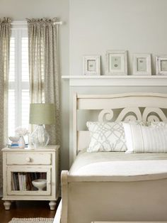 In smaller bedrooms, anything besides the bed should be scaled down to reduce visual clutter.