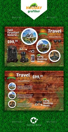 Travel Agenty Postcard Templates