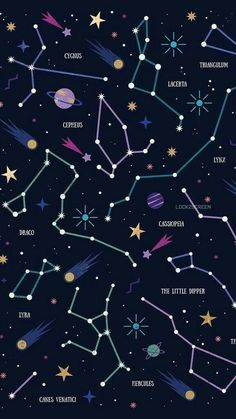 Constellations Wallpaper Phone – Night Sky Stars – Zodiac Signs – Astrological Signs – My Pin Page Wallpaper Space, Galaxy Wallpaper, Screen Wallpaper, Cool Wallpaper, Mobile Wallpaper, Iphone 6 Wallpaper Backgrounds, Aztec Wallpaper, Pretty Backgrounds, Trendy Wallpaper