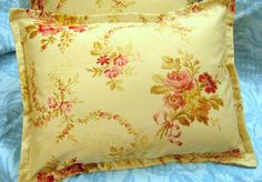 POST ROAD Floral Pair /2 Custom Made BOUDOIR Pillow by Sew1Pretty, $24.00