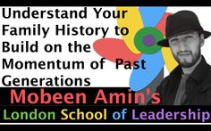 Understand your Family History to Build on the Momentum of Past Generations   https://www.youtube.com/watch?v=S-01hULbhg4