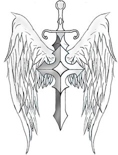 Sword and Shield Tattoo Designs   Sword Wings by ~archerion on deviantART