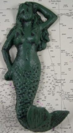 Amazon.com: Antique Reproduction Nautical Mermaid Green Iron Hook $5.95