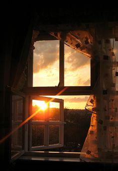 The sun in the window...