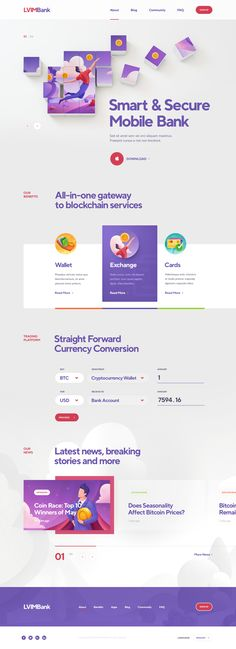 Trendy landing page Designed by-Mike | Creative Mints  Collected from-dribble