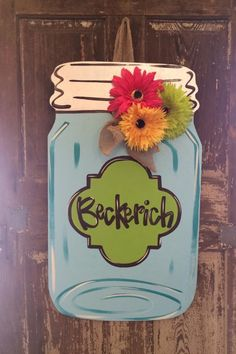 Happy Daisies Mason Jar Door Hanger - Southern Landscaping Garden & Gifts