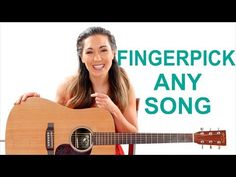 Fingerpick Any Song on the Guitar for Beginners - Easy Fingerpicking Exercises Easy Guitar Songs, Guitar Chords For Songs, Music Guitar, Playing Guitar, Music Chords, Music Songs, Guitar Songs For Beginners, Basic Guitar Lessons, Guitar Chords Beginner