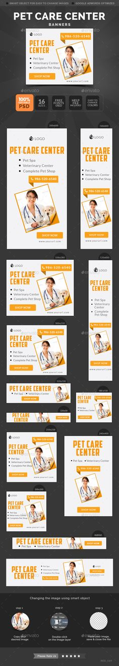 Pet Care Center Banners Template