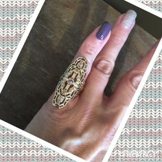 NWT Gorgeous Vintage Rose Alchemy ring  This is a very versatile ring that is both dressy and casual. This can be worn for date night or girls night out! I have sizes 6, 7, & 8 and would love to create a listing for you with your size!  The ring contains brass with 16k gold plate and glass crystal. Ask me about bundling! This is from a smoke free home  Sunahara Jewelry Jewelry Rings