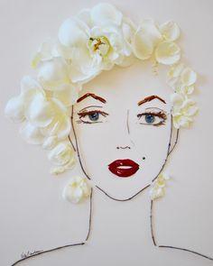 """""""Marilyn"""" Flower Face Print"""