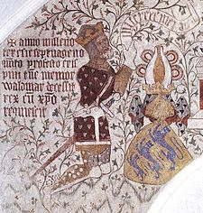 Valdemar IV of Denmark (1320 - 1375). King of Denmark from 1340 until his death in 1375. He married Helvig of Schleswig and had six children.